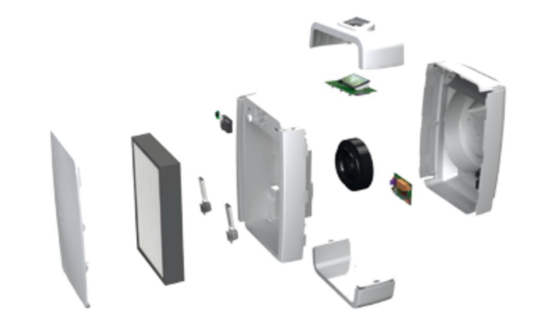 Le système de filtrage du purificateur d'air Eolis Air Manager